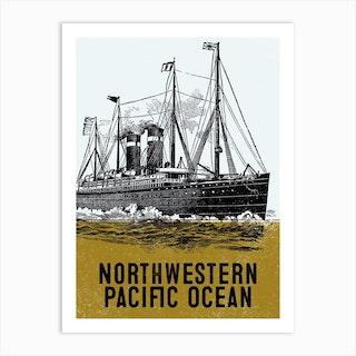 Northwestern Pacific Ocean Art Print
