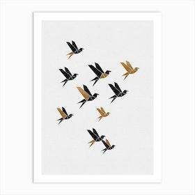 Origami Birds Collage Ii Art Print