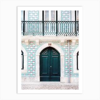 The Green Door Lisbon Portugal Art Print