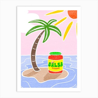 Salsa Art Print