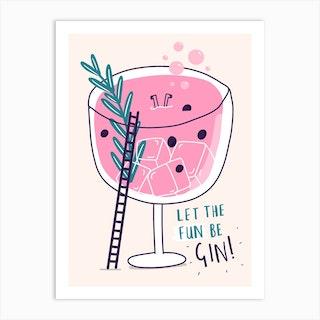 Gin Fun Art Print