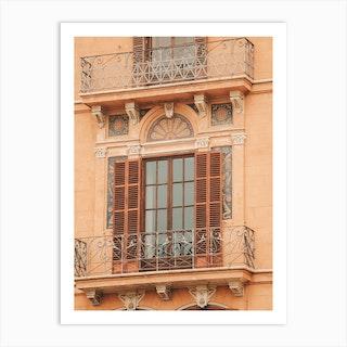 Balcony In Palma De Mallorca In Spain Art Print