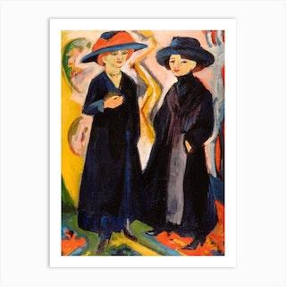 Two Women, Ernst Ludwig Kirchner Art Print