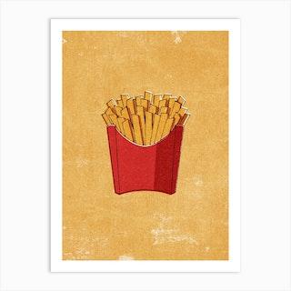 Fast Food Fries Art Print