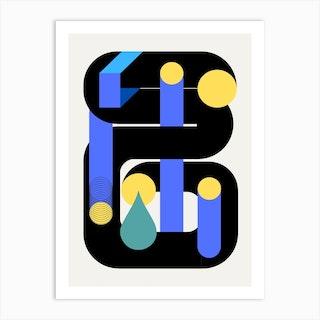 Pipe Geometrical Design Art Print