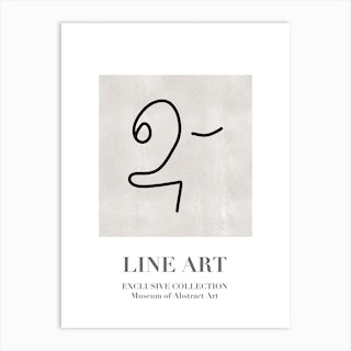 Line Art Abstract Collection 06 Art Print
