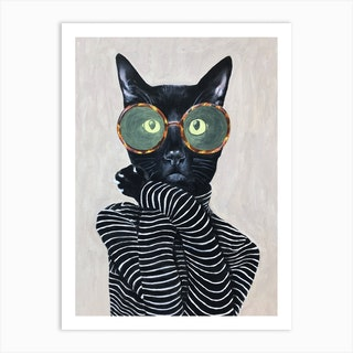 Fashion Cat Art Print
