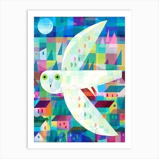 Owl Town Art Print