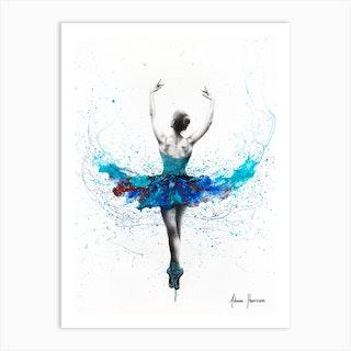 Floating Lake Ballet Art Print