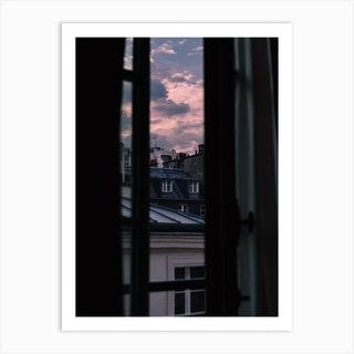 Paris Sunset VII Art Print