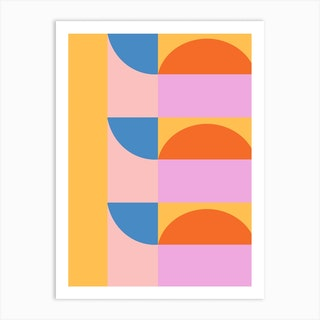 Shapes In Lilac And Yellow 2 Art Print