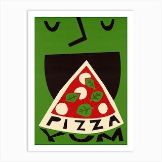 Yum Pizza Art Print