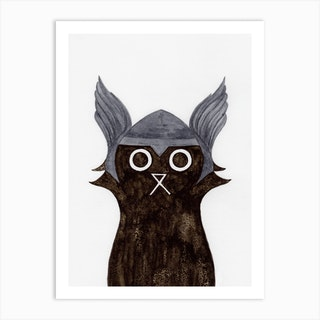 Thor Cat Art Print