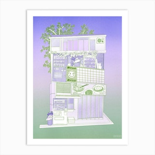 Snack House Art Print