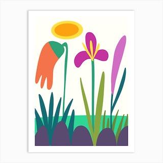 Flower Trio Art Print