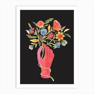 Nosegay Black Art Print