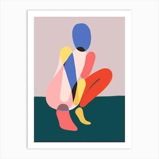 Queen Squat Art Print