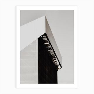 White Building Art Print