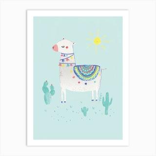 Sunshine Llama Art Print