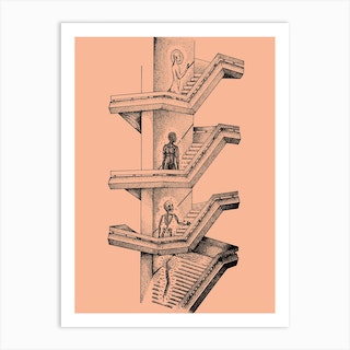 Chaos Is A Stairway Art Print