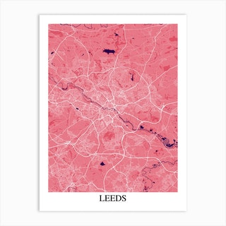 Leeds Pink Purple Art Print