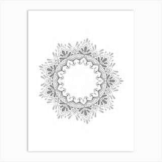 50 Shades Of Grey Mandala Art Print