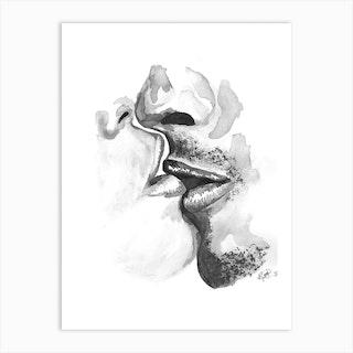 Kiss III Art Print