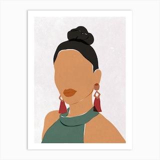 Cool Girl Art Print