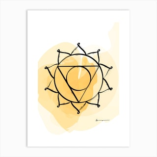 Solar Plexus Chakra Manipura Art Print