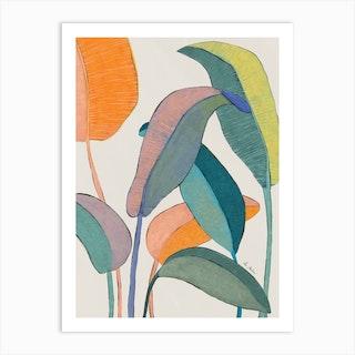 Banana Plant Art Print