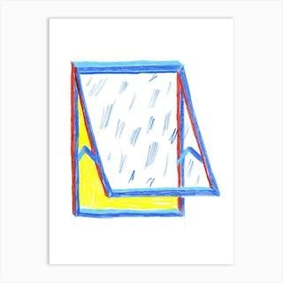 Window Drawing Art Print