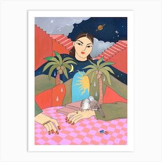 Midnight And Morning Art Print