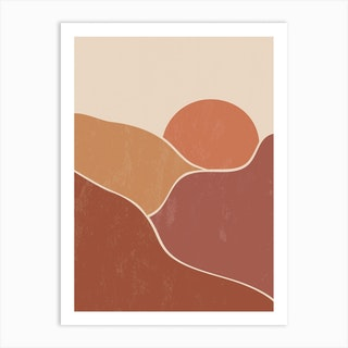 Mountain Sun Two Art Print