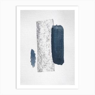 Minimal Abstract Aquarelle And Charcoal Art Print