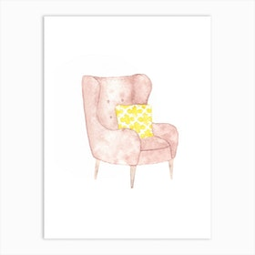 Cozy Armchair Art Print