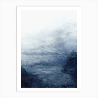 Indigo Abstract 2 Art Print