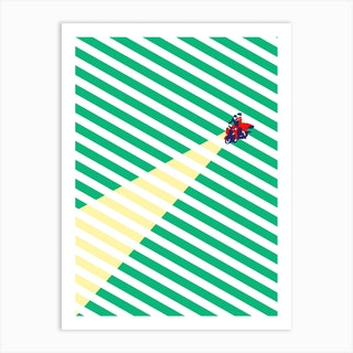 Vespa Love Art Print