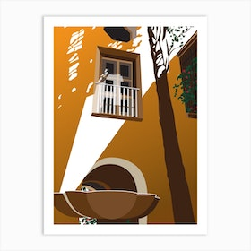 Balcony In Spain Art Print
