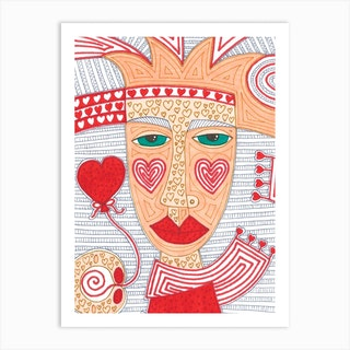 Boy In Red Art Print