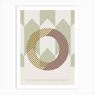 O Typeface Alphabet Art Print