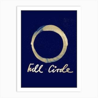 Full Circle 1 Blue Art Print