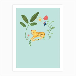Jungle Leopard Art Print