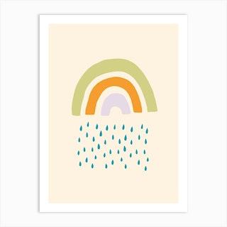 Raining Rainbow Art Print