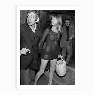 Jane Birkin And Serge Gainsbourg Art Print