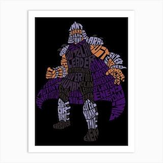 Shredder Art Print