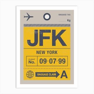 New York Luggage Tag Art Print