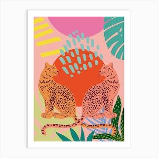 Two Tigers Art Print