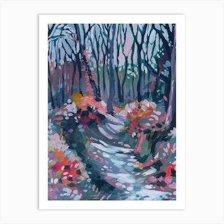 Awakening In The Forest Expressive Art Print