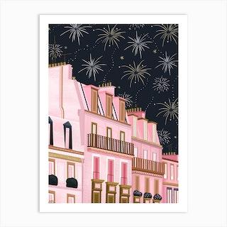 Rooftops In Paris Art Print