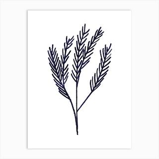 Mono Pine Art Print